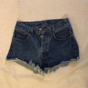 Brandy Button Up Jean Shorts